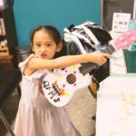 夏休み特別企画「楽器を作ろう!」姉妹でお揃いのカラーリング!