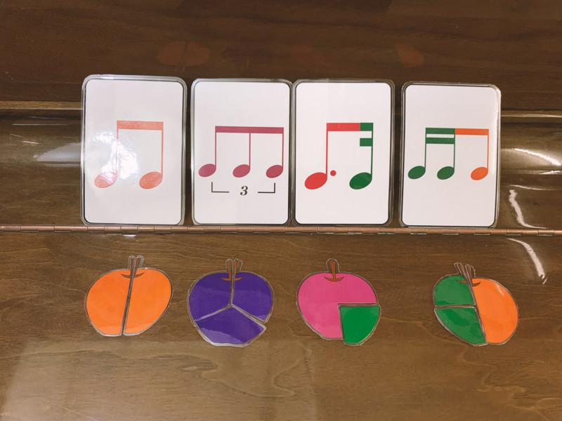 リズムとりんごのカード